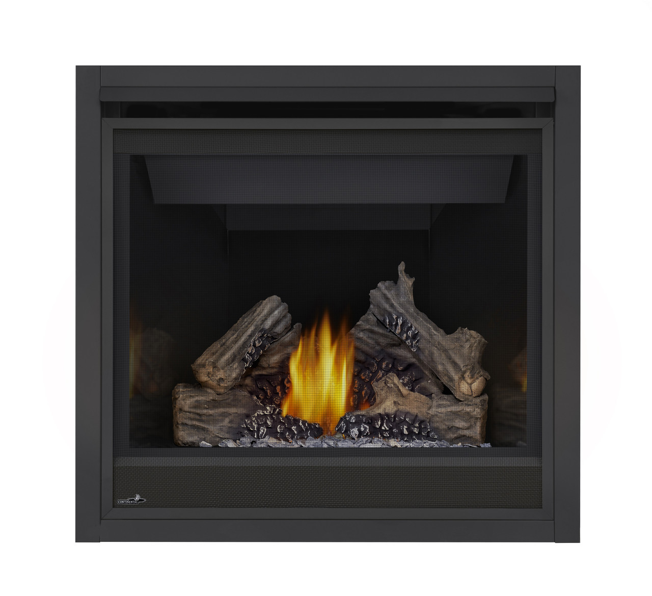 PHAZER Log Set, Standard front, MIRRO-FLAME Porcelain Reflective Radiant Panels