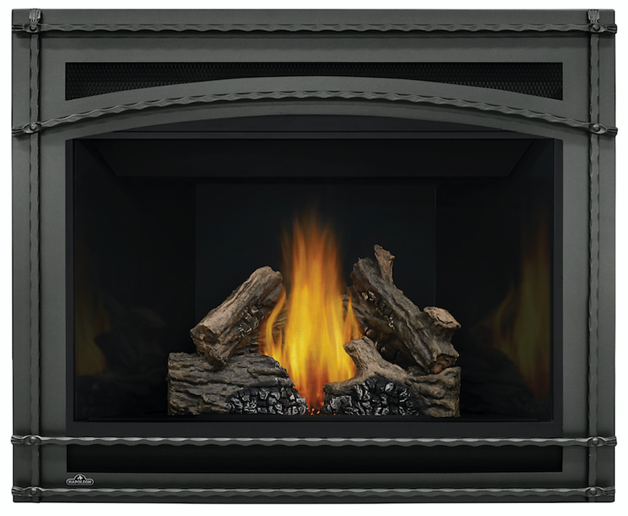 Ascent 42 with Log Set, Reflective Radiant Panels and Wrought Iron Front