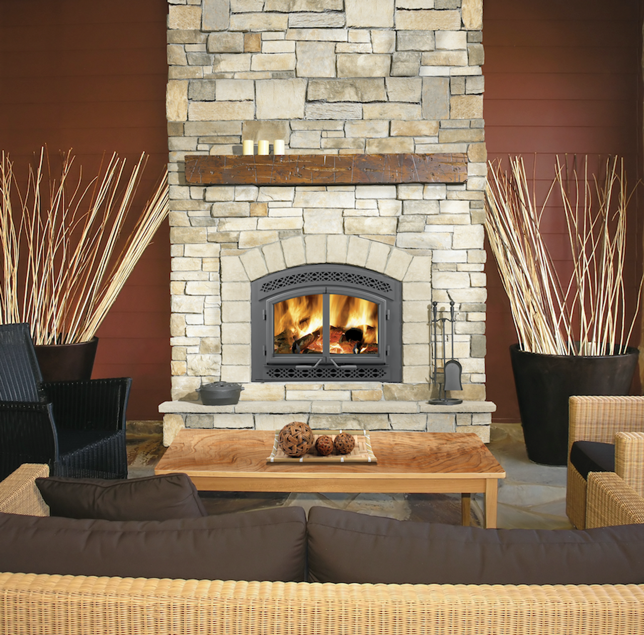 Napoleon High Country™ 3000 Wood Burning Fireplace ... on Embers Fireplaces & Outdoor Living id=47434