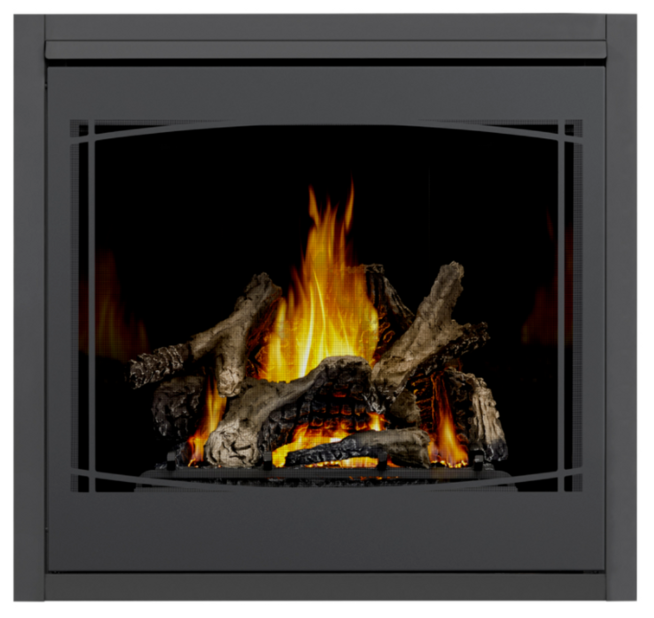 PHAZER Logs, MIRRO-FLAME Porcelain Reflective Radiant Panels, Zen Front