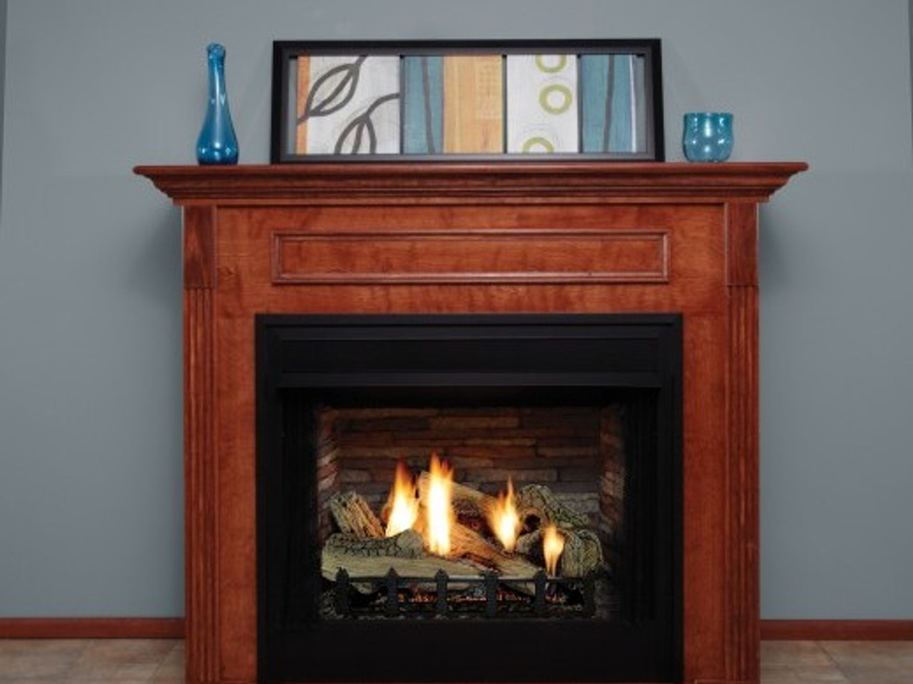 Empire Breckenridge  Vent-Free Firebox Deluxe 42 (includes Black Hood) with Refractory Liner - VFD42FB2M