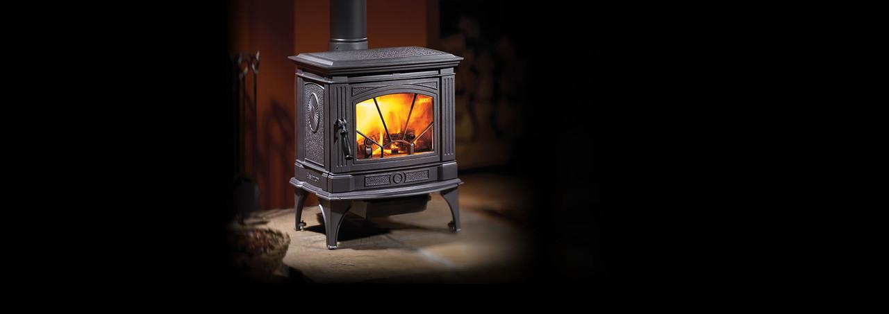 Hampton® H200 Medium Cast Iron Wood Stove - Charcoal Gray