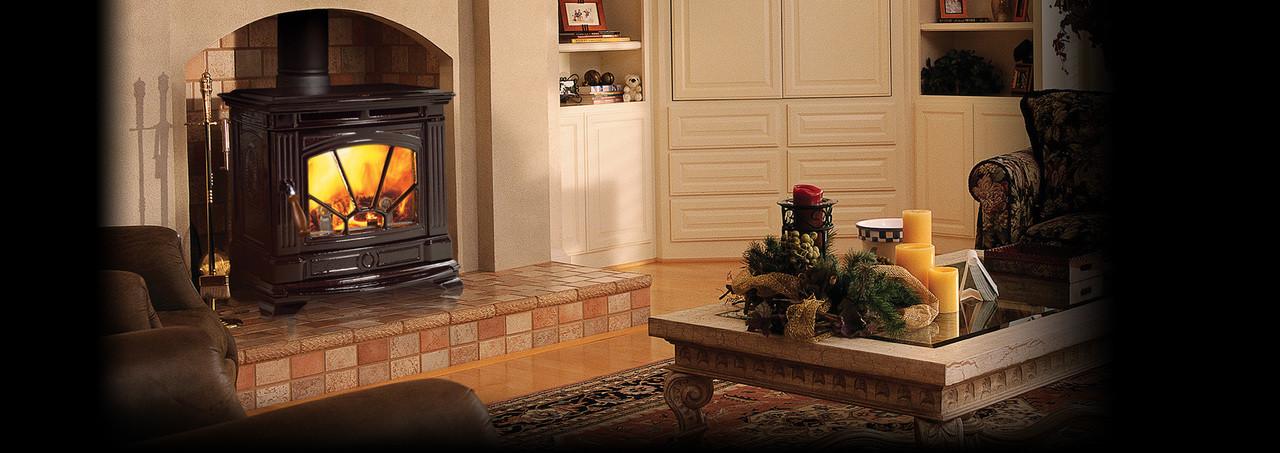 Hampton® H200 Medium Cast Iron Wood Stove - Timberline Brown Enamel