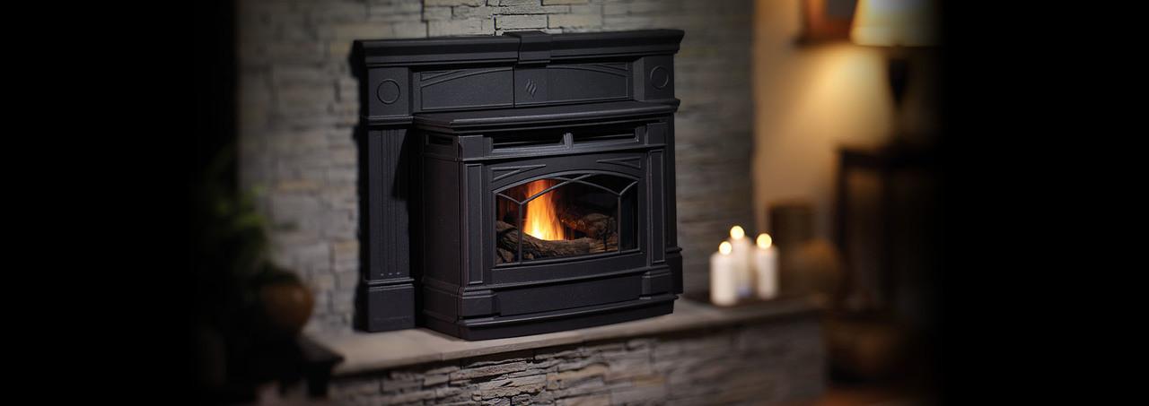 Hampton® Greenfire® Large Cast Iron Pellet Insert - GCI60
