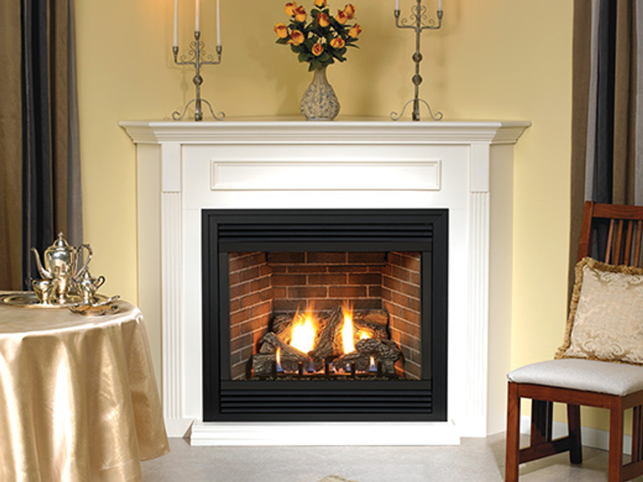 """Empire Tahoe Direct-Vent Fireplace Premium 48"""" - Multi-Function Control (includes Variable Remote to control flame and blower, battery backup)"""