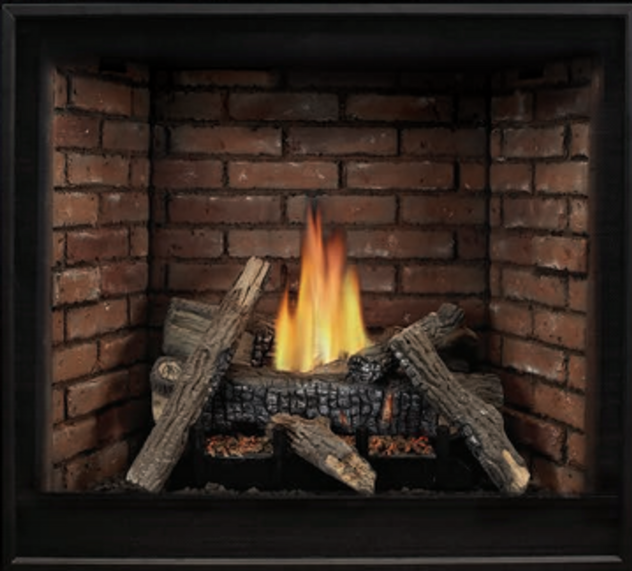 """Empire Tahoe Clean-Face Direct-Vent Fireplace Deluxe 42"""" - Intermittent Pilot Control with On/Off Switch (Battery Backup and AC Adapter) with Blower"""