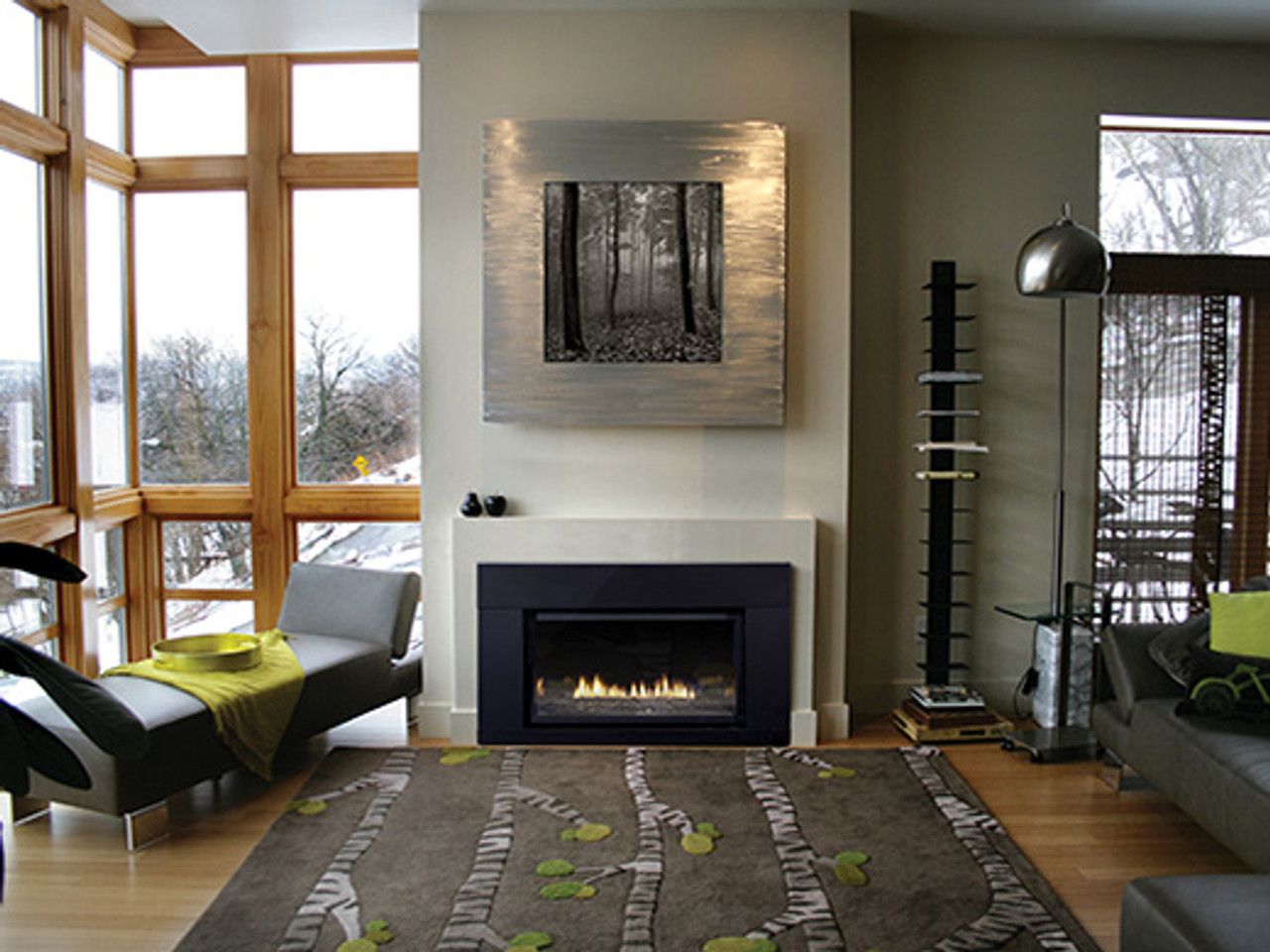 Empire Loft Series Direct-Vent Fireplace Inserts - Millivolt Control with On/Off Switch -Medium DVL33IN