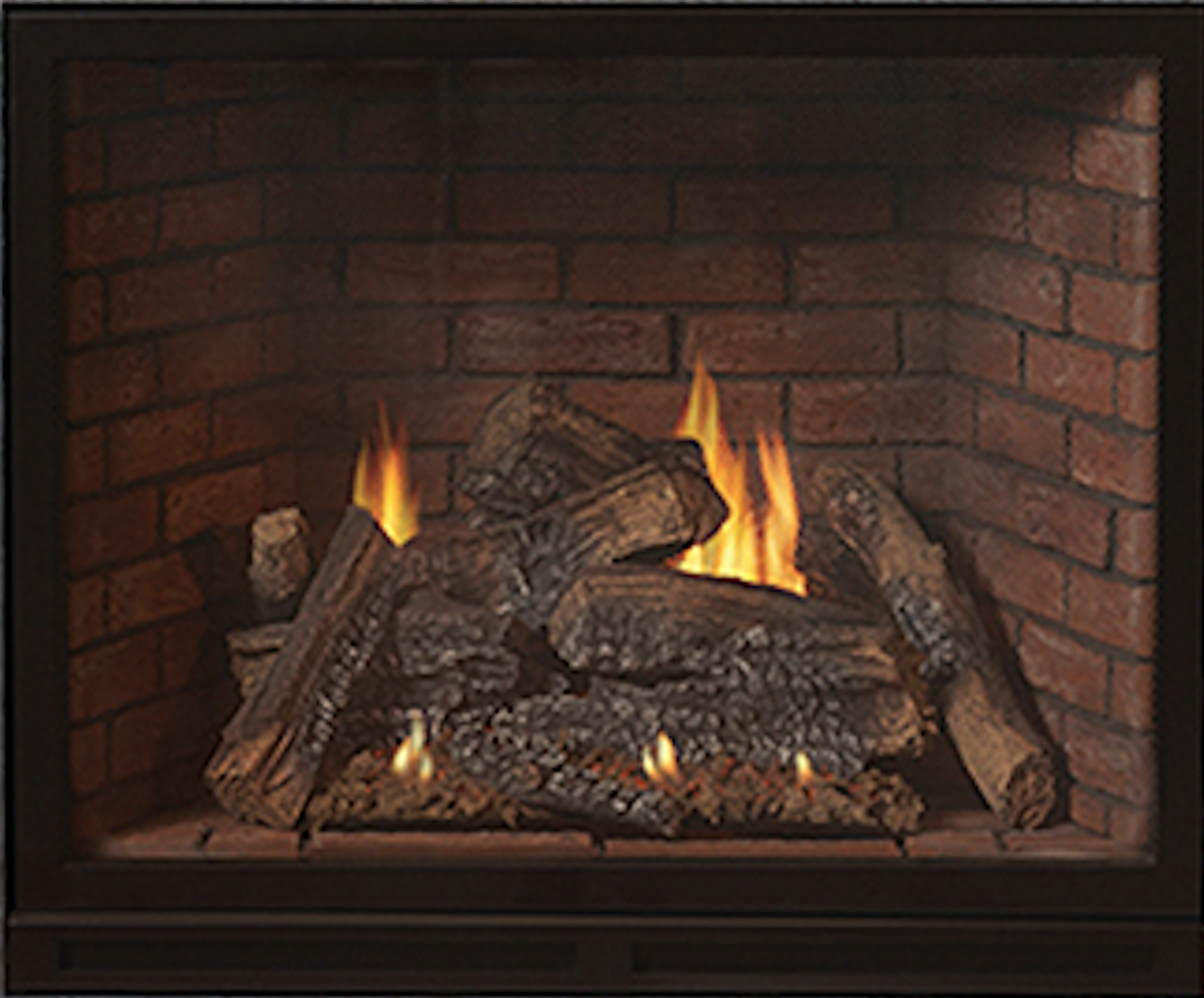 """Empire Tahoe Clean-Face Direct-Vent Traditional Fireplace Luxury 36"""" -  Multi-Function Thermostat Remote Control for Flame, Light, and Blower"""