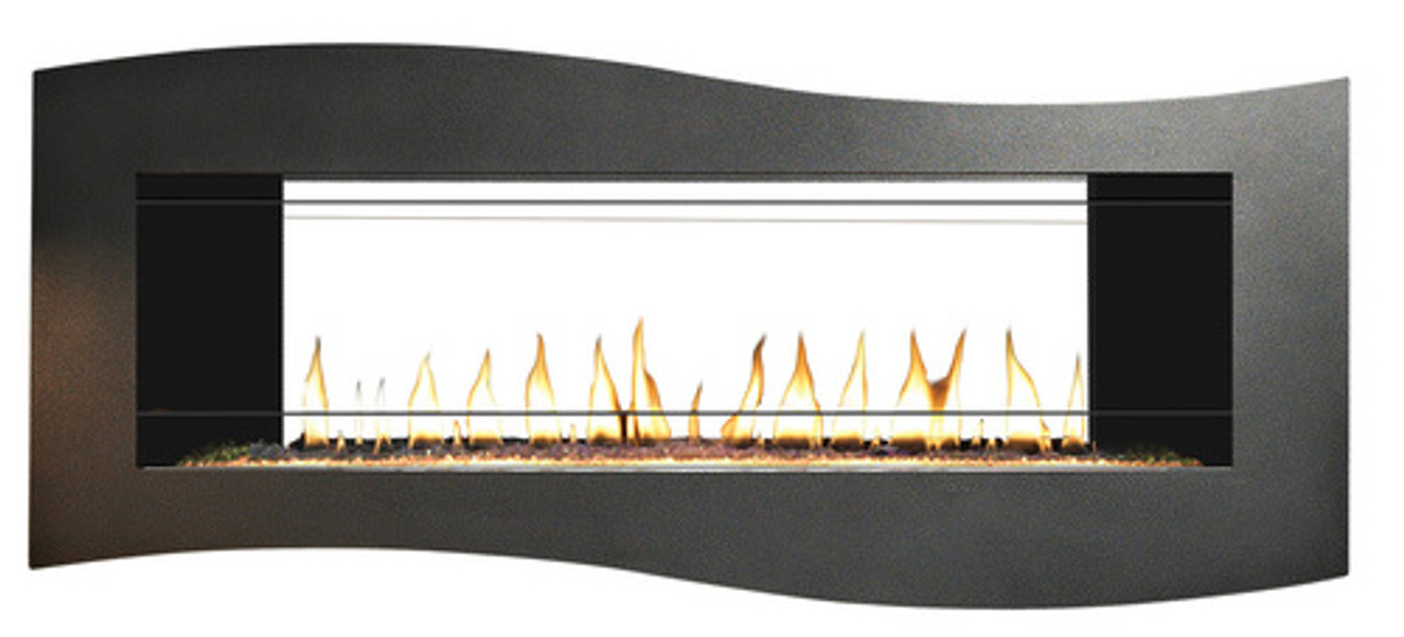 "Empire Boulevard Linear See-Through Vent Free Fireplace with Barriers, 48"" Linear Burner - Intermittent Pilot with Thermostat Remote, 36,000 Btu"