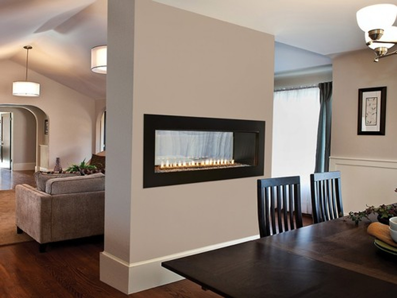 Empire Boulevard 60 Vent Free Linear See Through Gas Fireplace W
