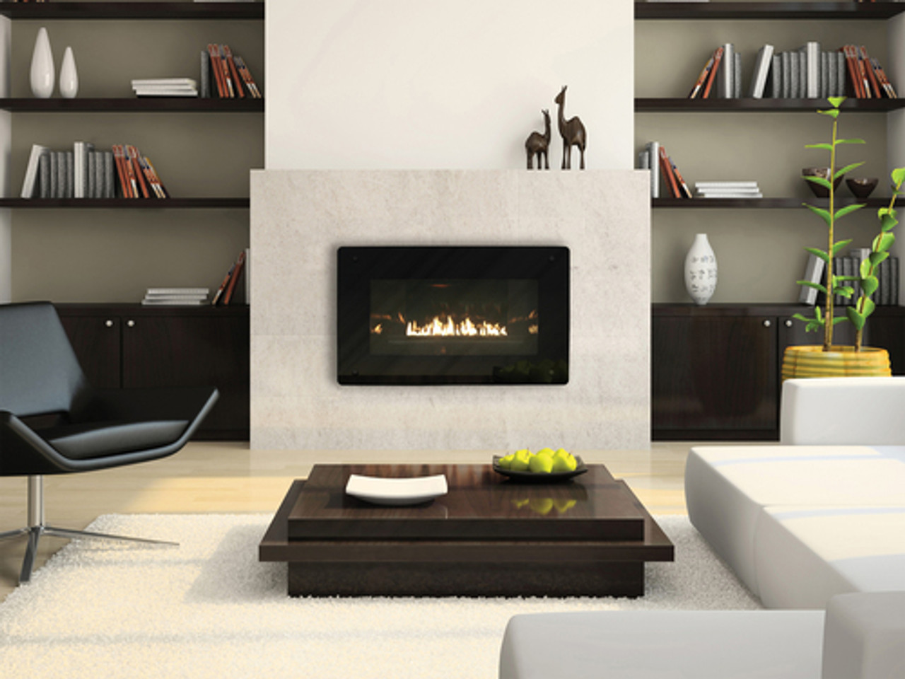 Empire Loft Vent-Free Cleanface Insert/Fireplace with Barrier - Zero-Clearance - Small - Intermittent Pilot Control - Btu 20,000 - VFL20IN92