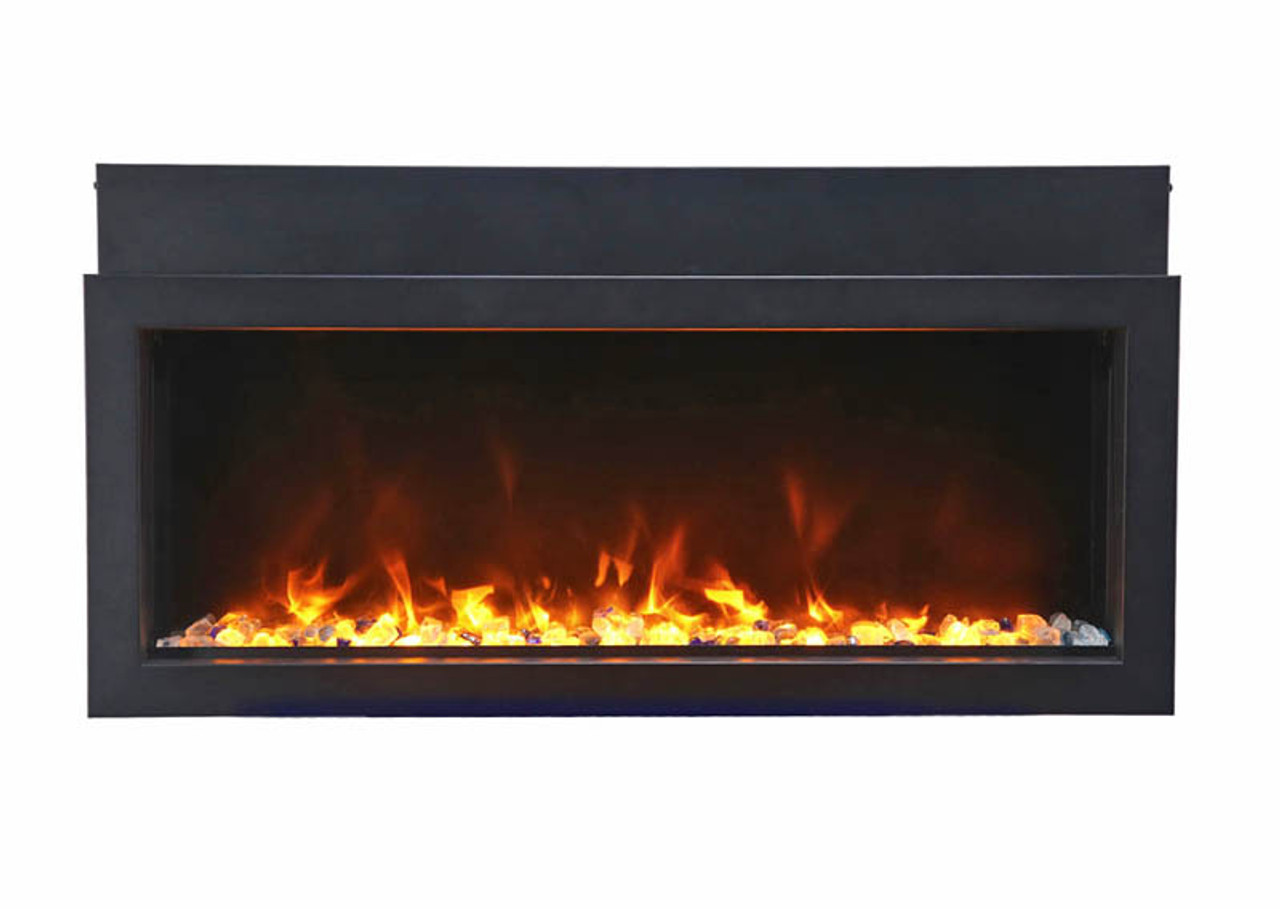 """Amantii 30"""" Extra Slim Indoor or Outdoor Electric Built-in Only with Black Steel Surround"""