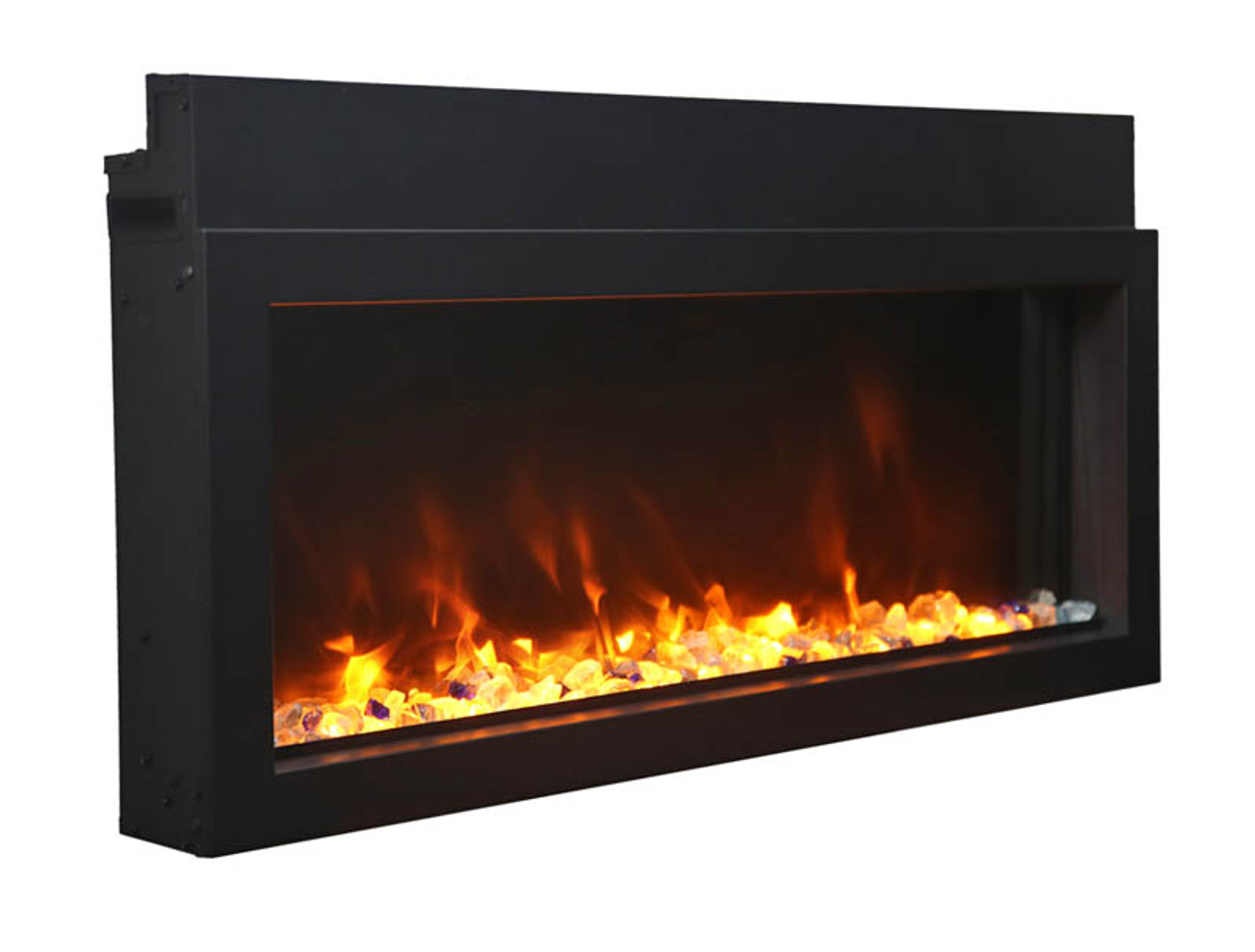 """Amantii 40"""" Extra Slim Indoor or Outdoor Electric Built-in Only with Black Steel Surround"""