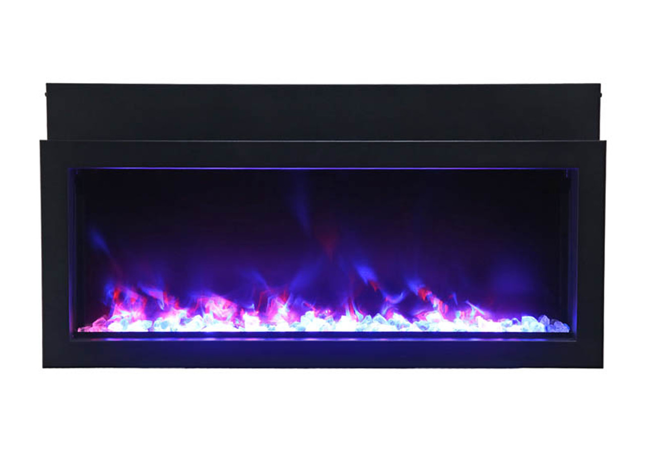 """Amantii 50"""" Extra Slim Indoor or Outdoor Electric Built-in Only with Black Steel Surround"""