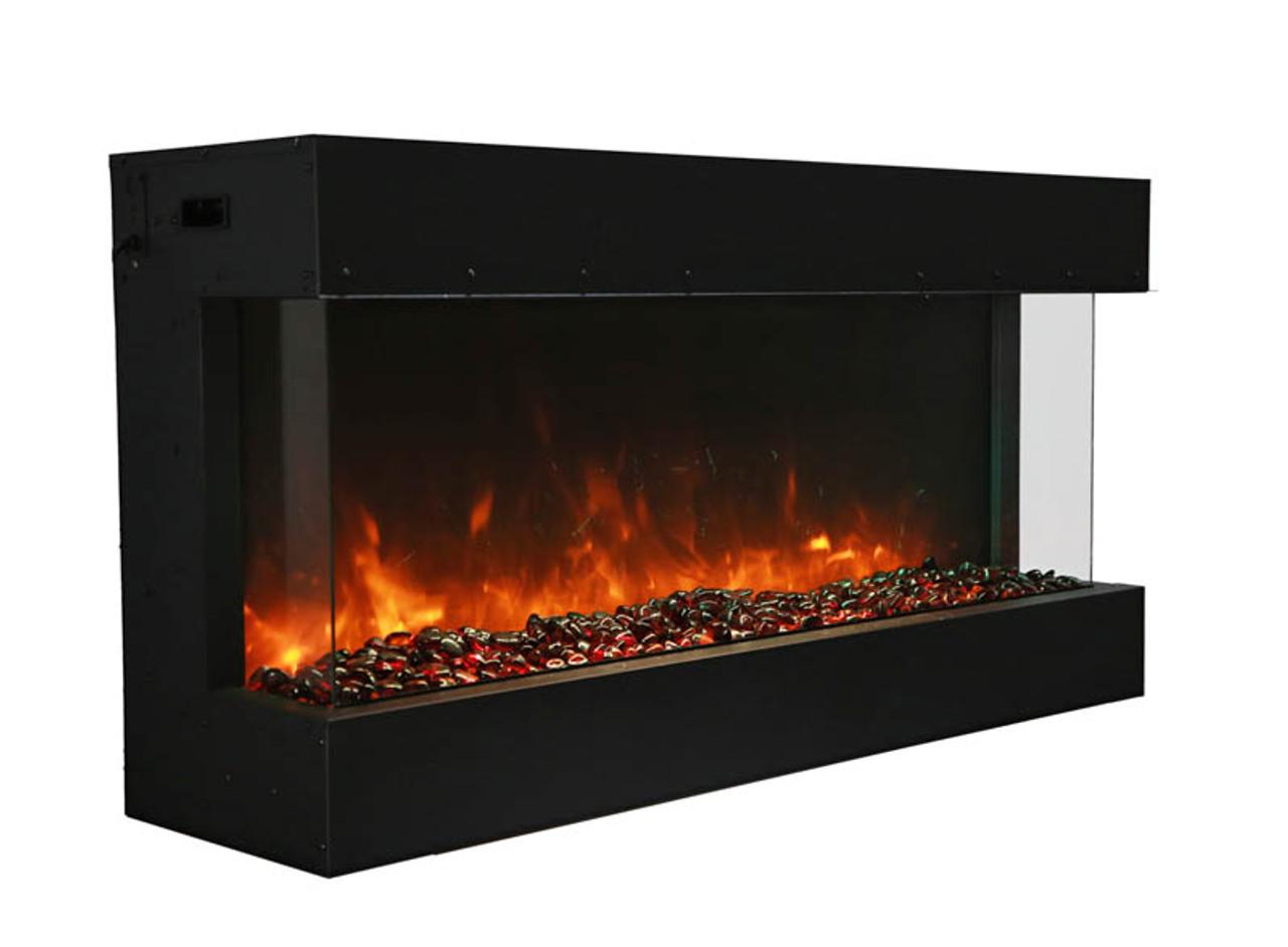 Amantii 40-TRU-VIEW-XL – 3 sided 40 inch Wide Electric Fireplace