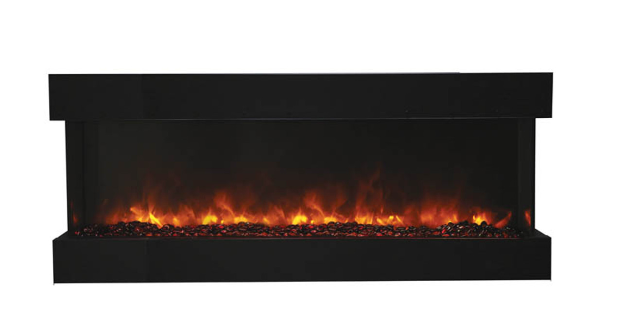 Amantii 60-TRU-VIEW-XL – 3 sided 60 inch Wide Electric Fireplace