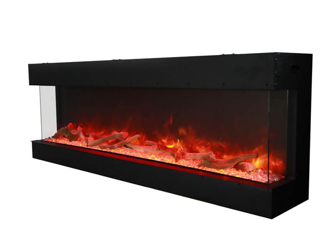 Amantii 72-TRU-VIEW-XL – 3 sided 72 inch Wide Electric Fireplace
