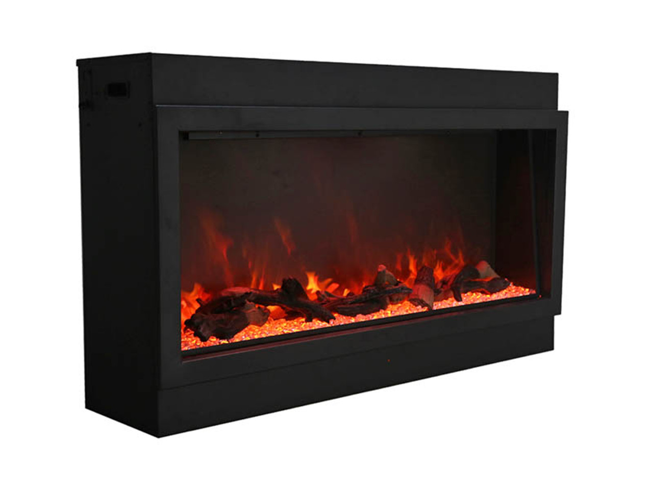 "Amantii 72"" Deep Indoor or Outdoor Electric Built-in Only with Black Steel Surround"