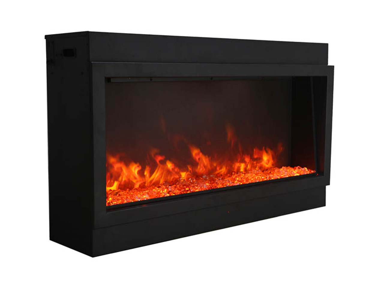 """Amantii 88"""" Deep Indoor or Outdoor Electric Built-in Only with Black Steel Surround"""