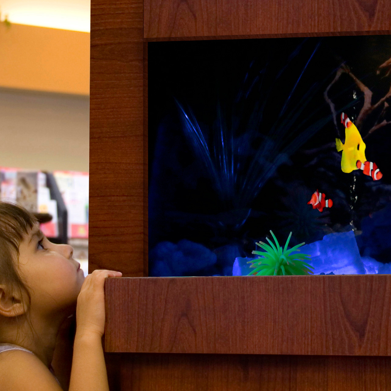 The Dimplex Opti-V uses unprecedented technology to render a virtual Aquarium experience.