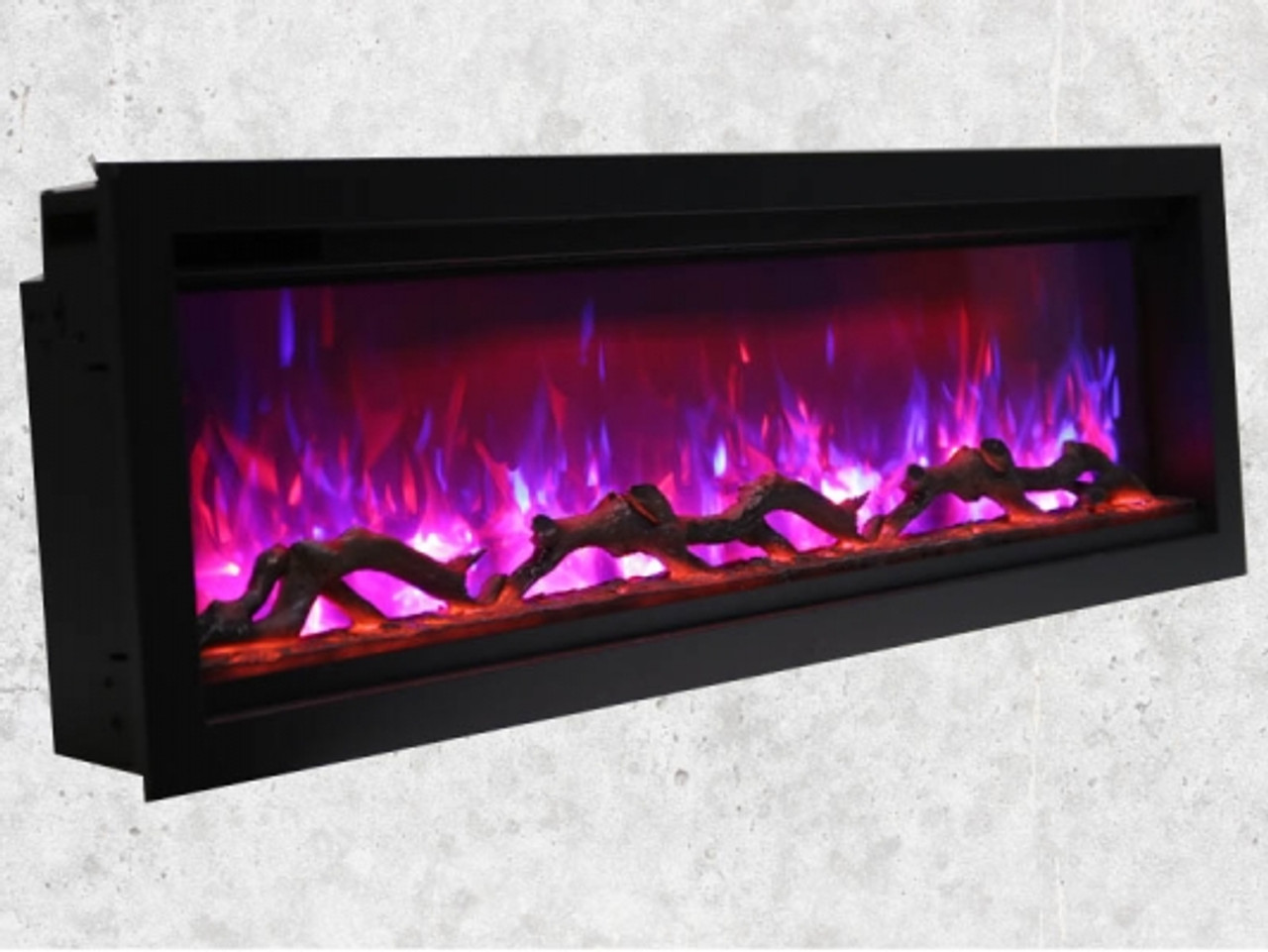 "Amantii 60"" Extra Tall Clean Face Electric Built-in with Black Steel Surround"