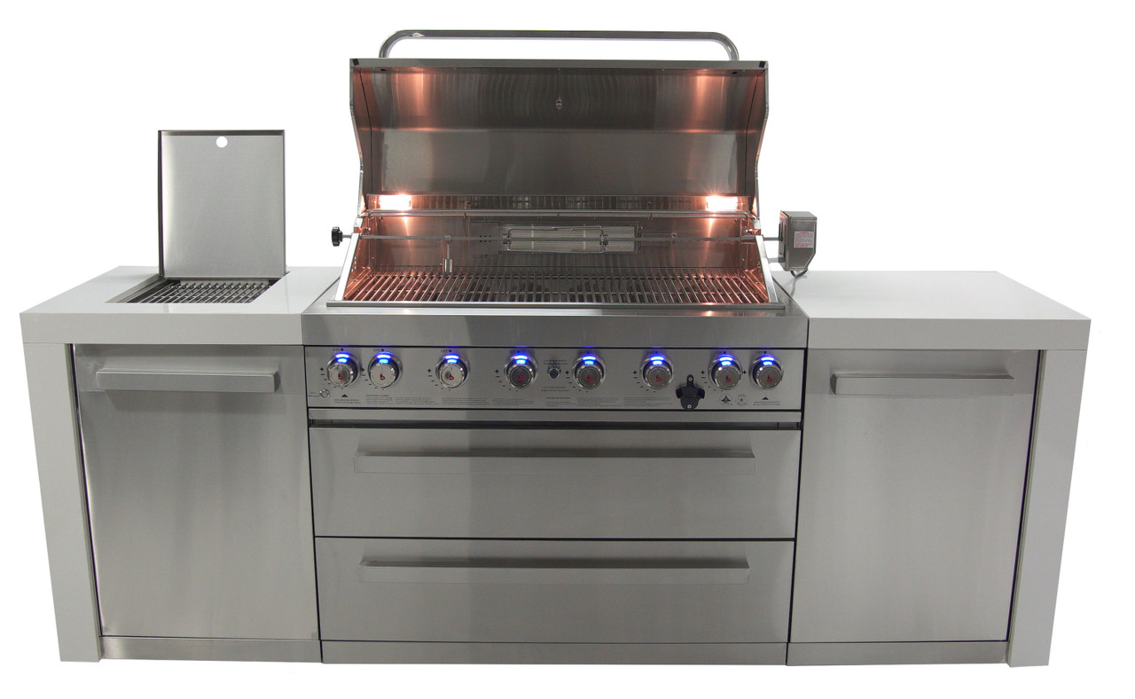 Mont Alpi 805 Deluxe Island Complete Outdoor Kitchen Gas Grill Island