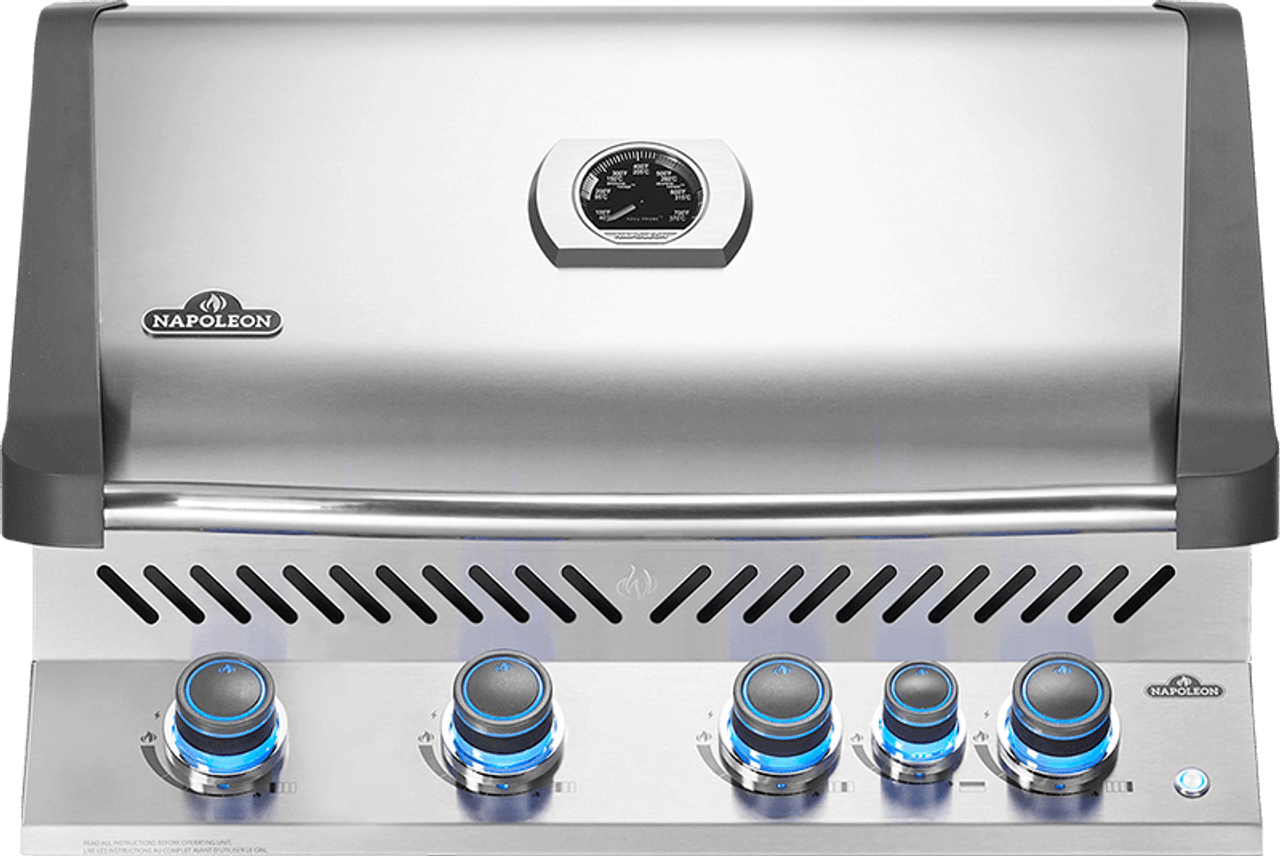Built-in Prestige® 500 Propane Gas Grill Head with Infrared Rear Burner, Stainless Steel