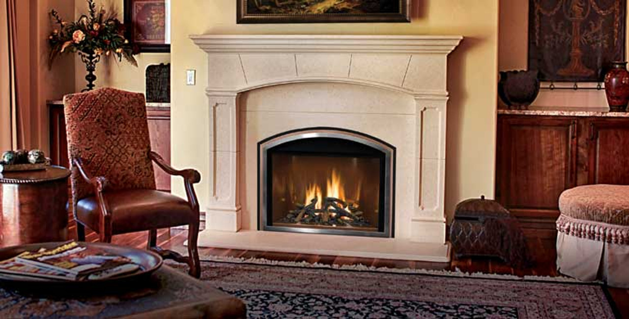 Mendota- FullView Decor Gas Fireplace Insert - Embers ... on Embers Fireplaces & Outdoor Living id=27490