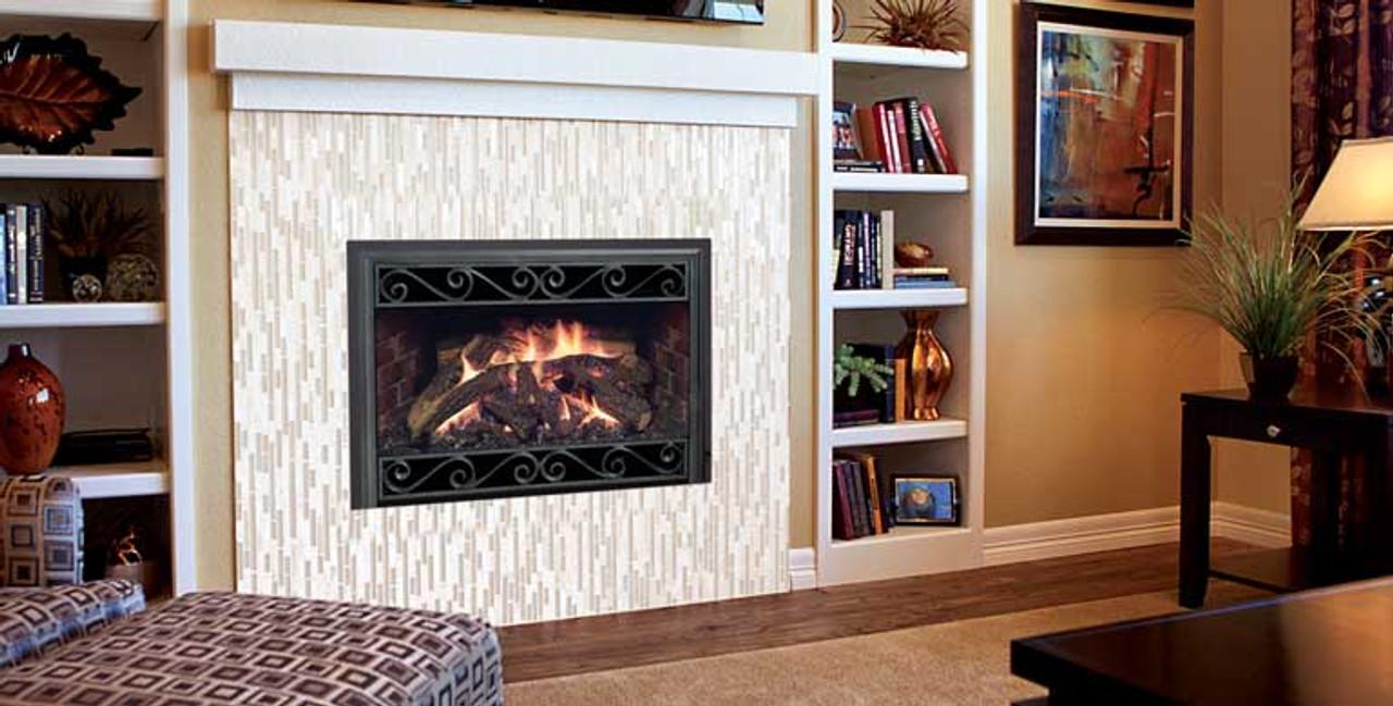 Mendota-D Series Insert Gas Fireplace - Embers Fireplaces ... on Embers Fireplaces & Outdoor Living id=55334