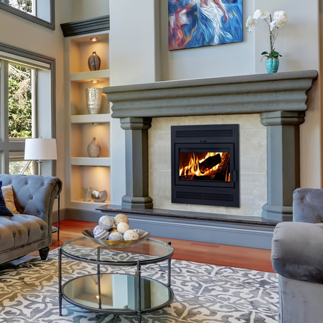 Supreme Astra 24 Zero-Clearance Wood Burning Fireplace ... on Embers Fireplaces & Outdoor Living id=55963