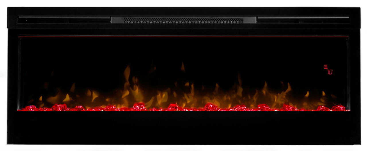"""Prism 50"""" Prism Electric Fireplace - Red"""