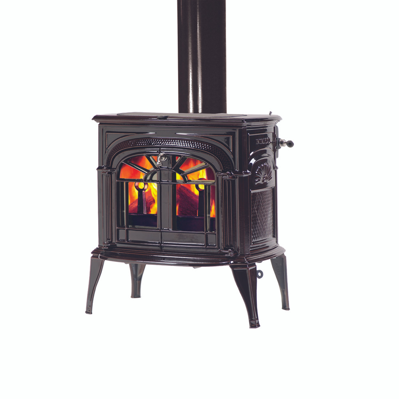 Vermont Castings Intrepid  Wood Burning Stove shown in Majolica Brown