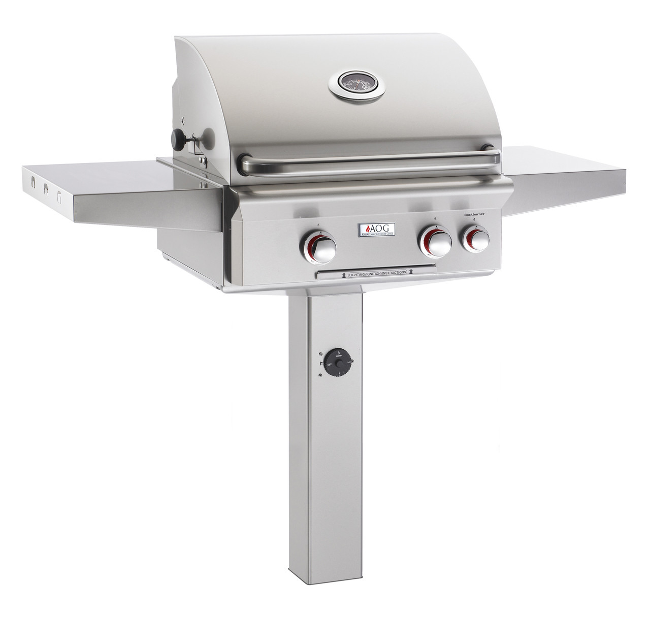 """AOG 24"""" T-Series In-Ground Post BBQ - Primary Cooking Surface 432 sq. inches"""
