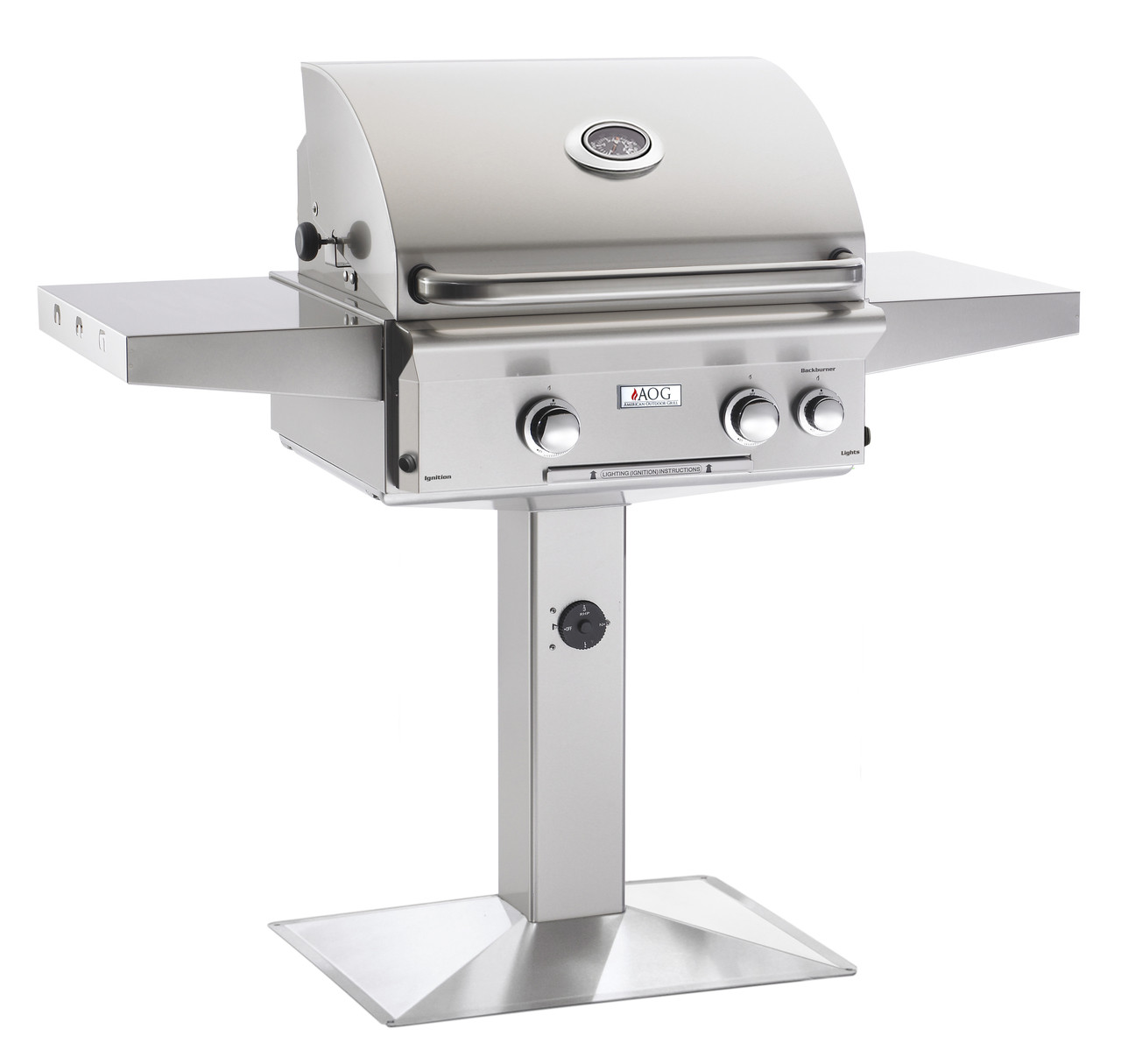 """AOG 24"""" L-Series Patio Post BBQ - Primary Cooking Surface 432 sq. inches"""