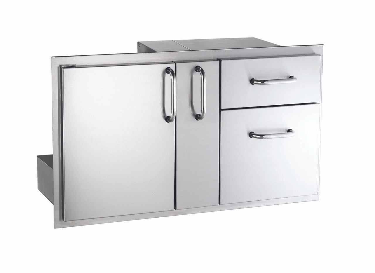 AOG 18-36-SSDD 18x36 Storage Door With Double Drawer And Platter Storage