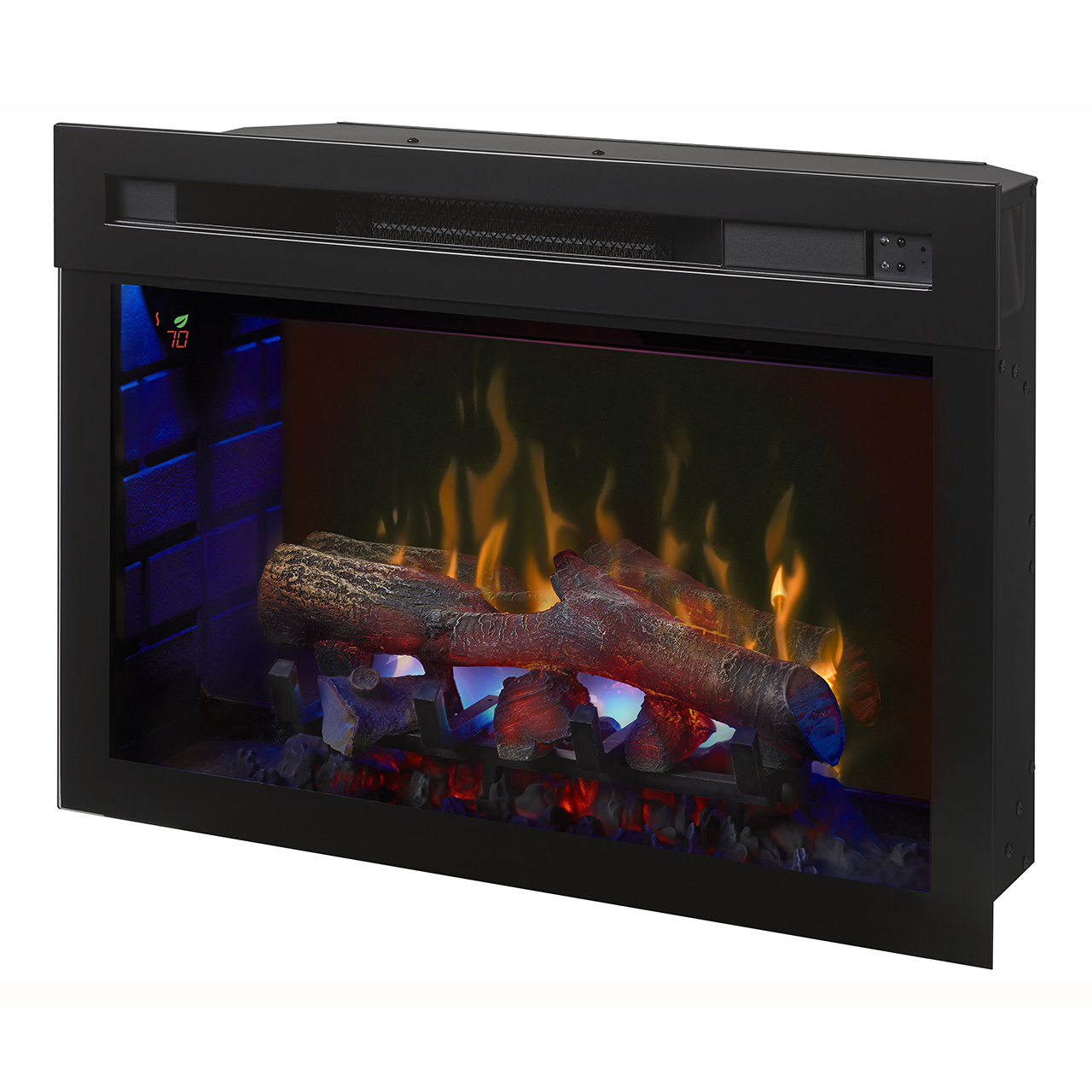 """Dimplex 25"""" Multi-Fire XD Electric Firebox w/ Logs - Blue"""