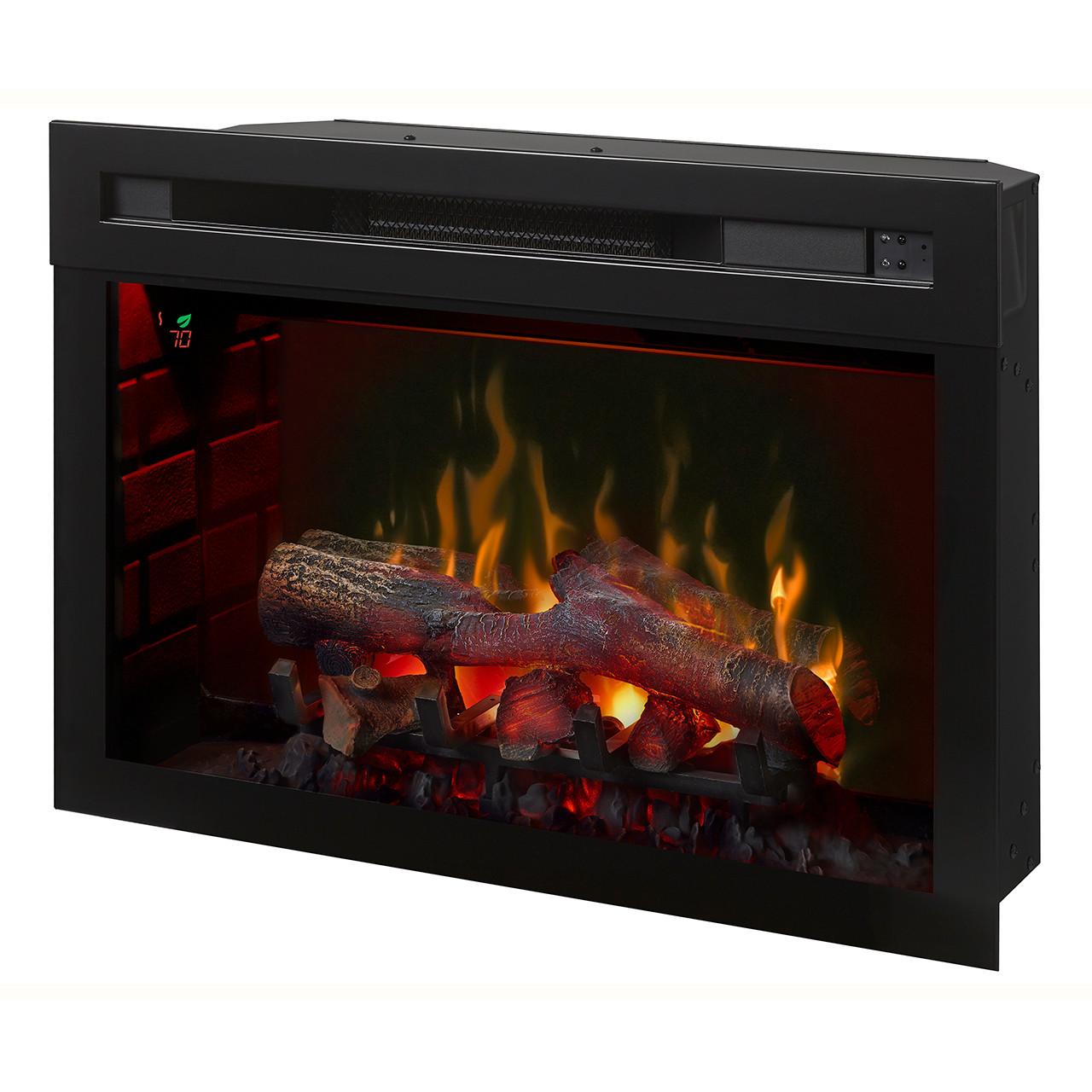 """Dimplex 25"""" Multi-Fire XD Electric Firebox w/ Logs - Red"""
