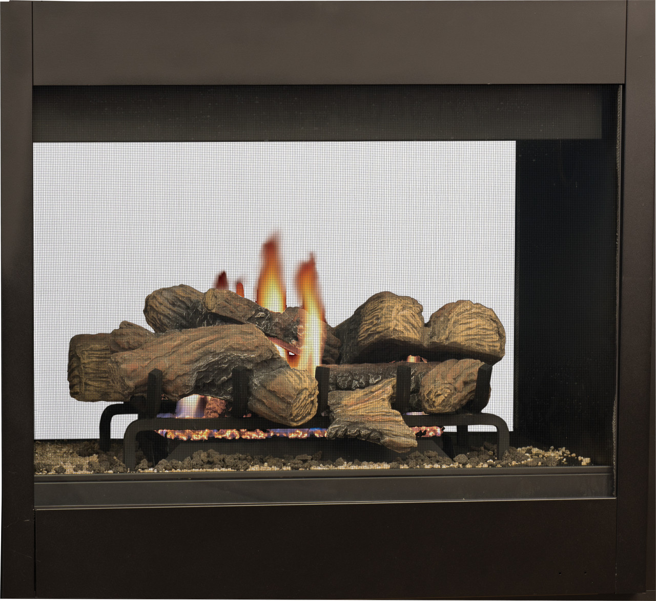 DRT40ST See Through Fireplace with Standard Black Liner