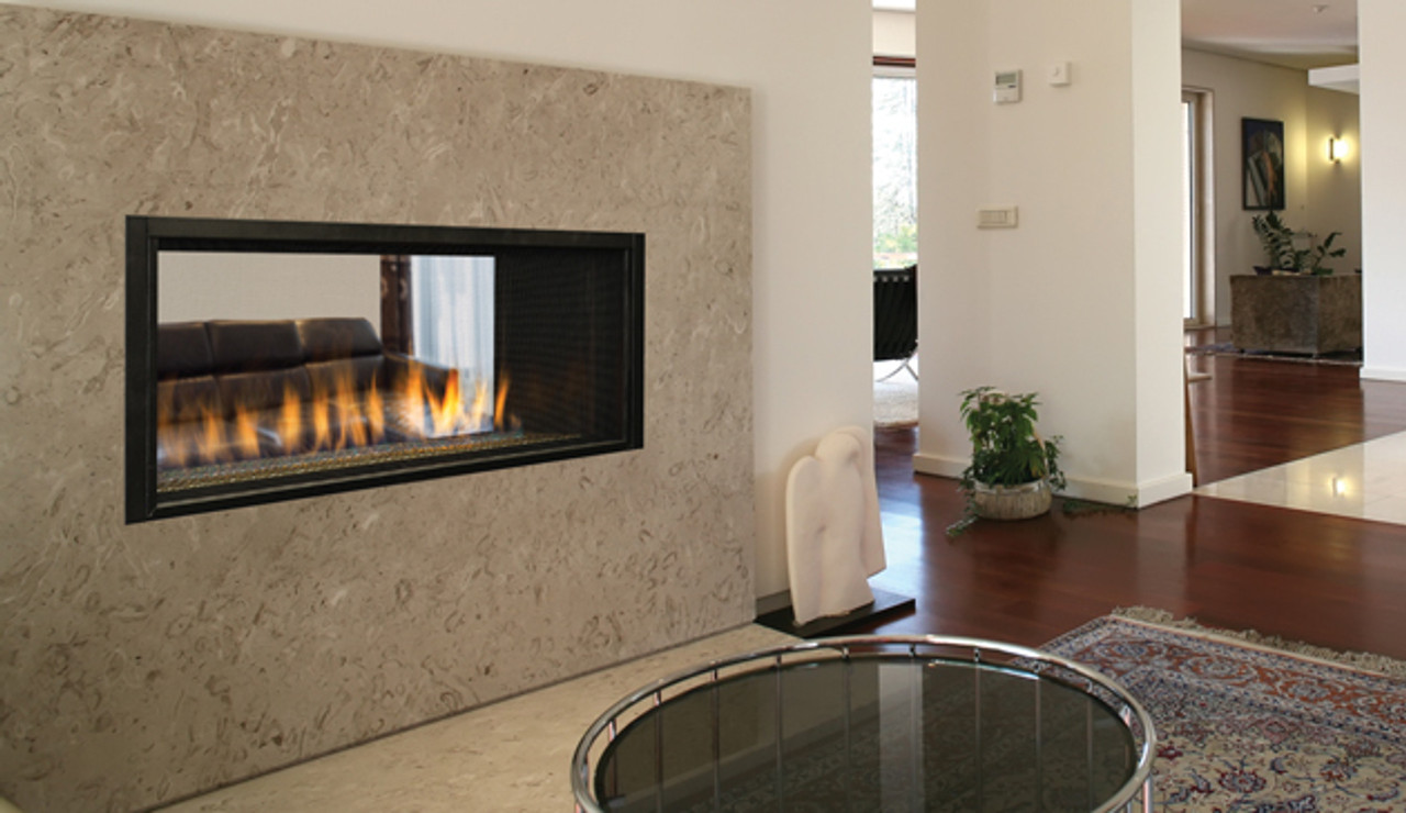"""Superior 43"""" Gas Linear Direct Vent Fireplace -See-Through"""