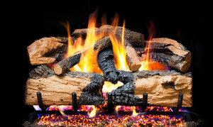 Realfyre Charred American Oak with G4 (Glowing Ember ... on Embers Fireplaces & Outdoor Living id=19261