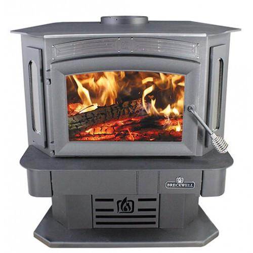 Breckwell SW940 Bay Front Wood Stove/Insert in Pedestal