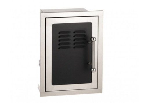 Firemagic Premium Flush Mounted Black Diamond Single Door With Tray and Louvers with Soft Close System - 53820HSC