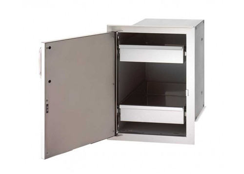 Firemagic Single Access Door with Dual Drawers, Enclosed - 33820-SL/SR