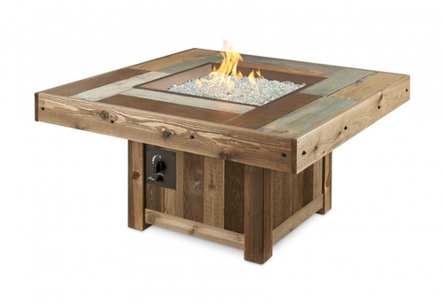 Outdoor Greatroom Vintage Square Gas Fire Pit Table