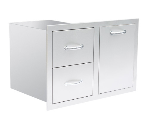 Summerset LP Tank/Trash + 2 Drawer Combo - Storage Drawers - SSLPDC