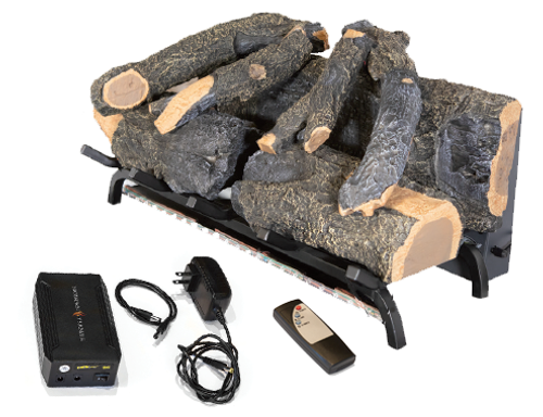 Sunset Charred Oak Electric Log Set - Modern Flames w/ Optional Battery SCO-26EL