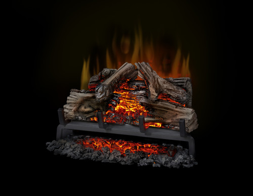 These beautifully designed electric log sets offer authentic glowing logs and realistic flames