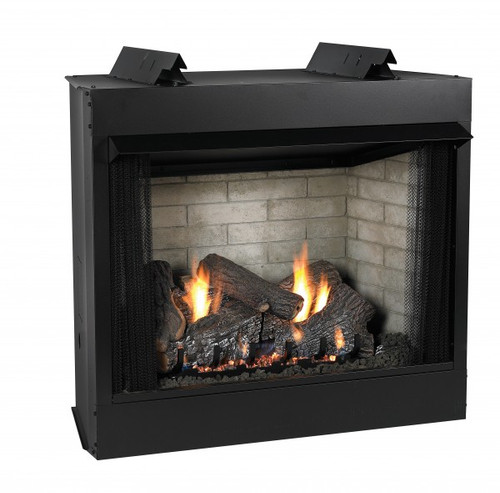 Empire Breckenridge  Vent-Free Firebox Deluxe 32 with Refractory Liner  (includes Black Hood) - VFD32FB2