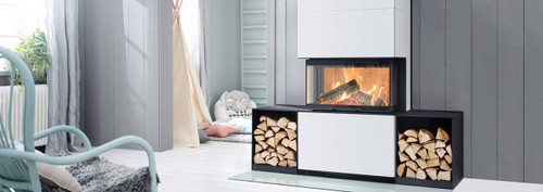 Regency Contura 3-Sided Freestanding Wood Fireplace
