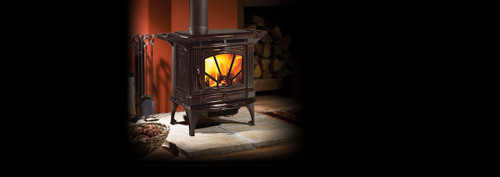 Hampton® H200 Medium Cast Iron Wood Stove - Timberline Brown Enamel